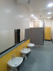 Completed toilets