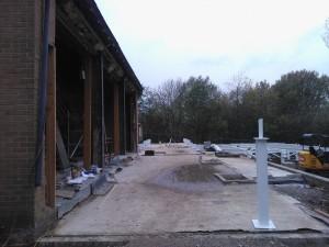 The steel floor