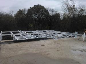 The steel platform